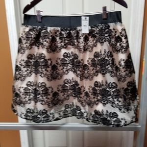 NWT Express Chiffon with suede flowery designs